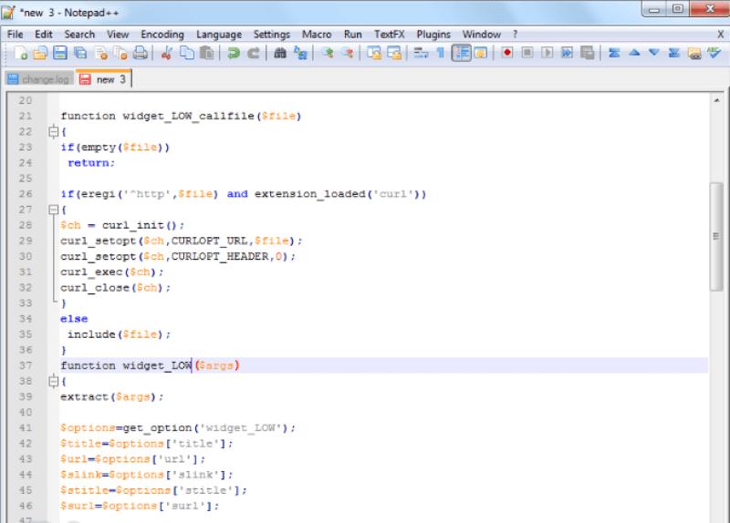 Notepad++ windows