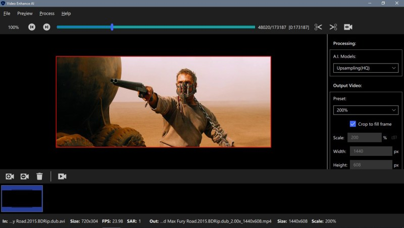 Topaz Video Enhance AI windows
