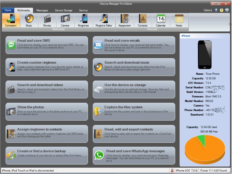iDevice Manager Pro windows