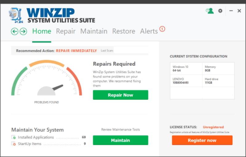 WinZip System Utilities Suite windows