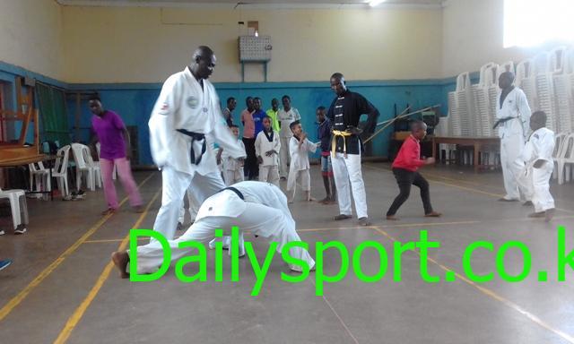 Photo of Taekwondo master Ratang'a fighting coronavirus