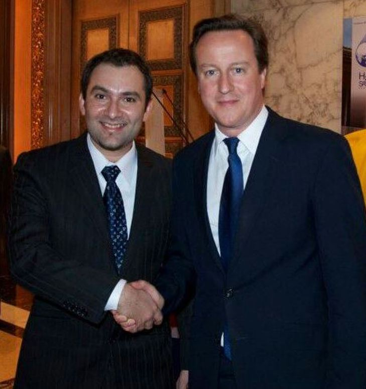 Dr Rajiv with former UK PM David Cameron. Photo: Supplied.