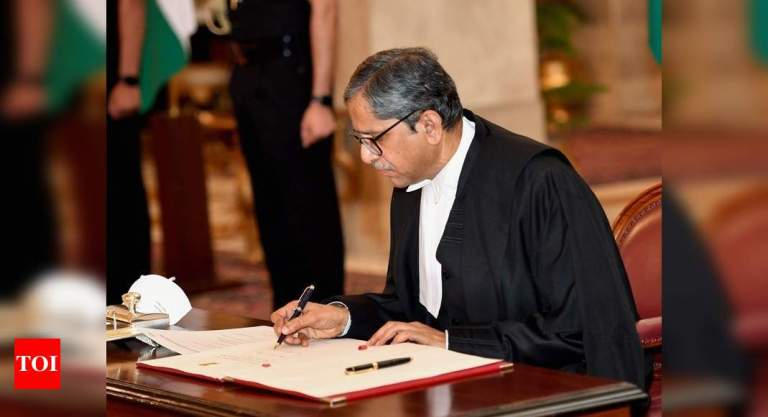 CJI swings in action, meets senior judges to take stock of of Covid-19 situation   India News