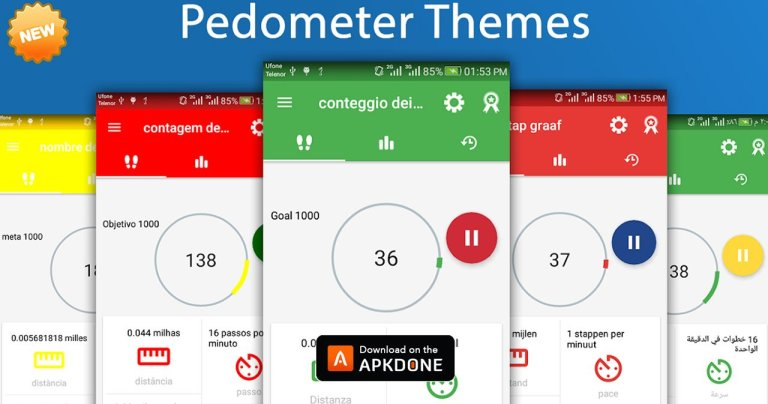 Step Counter – Pedometer Free & Calorie Counter MOD APK 1.2.1 Download (Unlocked) free for Android