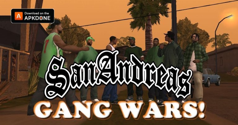 San Andreas Gang Wars MOD APK 9.8 Download (Unlock levels) free for Android