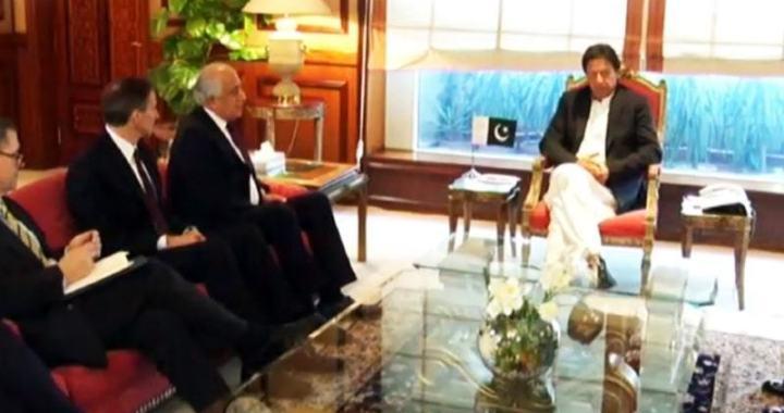 وزیر اعظم عمران خان کی زلمے خلیل زاد سے ملاقات
