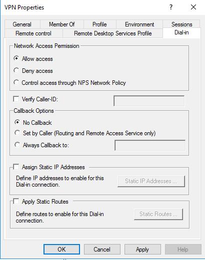 Create an L2TP VPN Server in Windows Server 2016 - DailySysAdmin