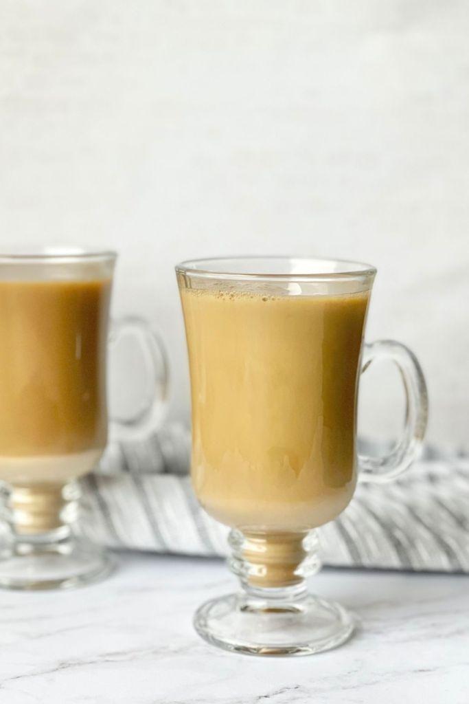 brown sugar milk tea in tea cup