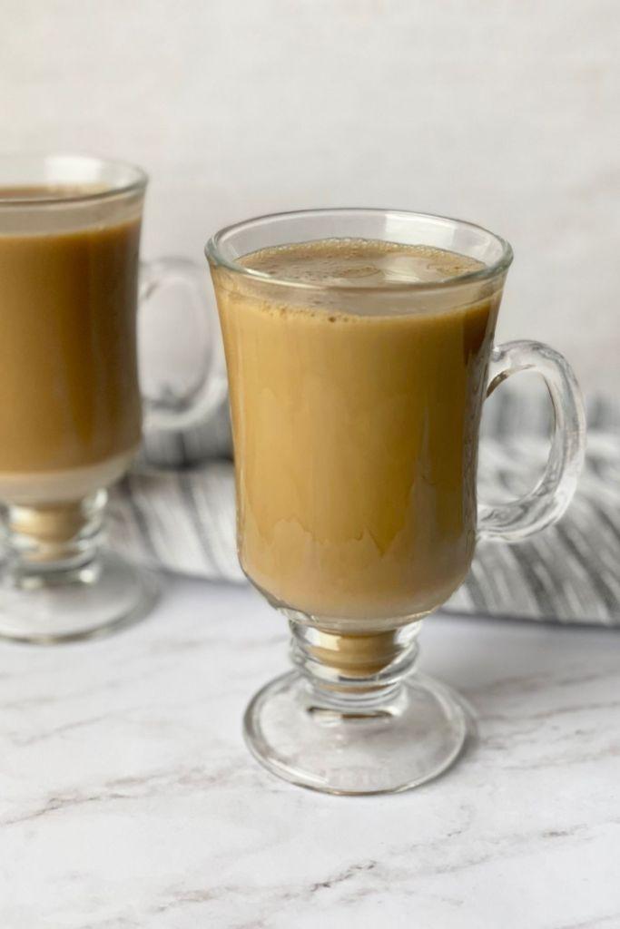 brown sugar milk tea with tea towel