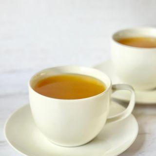 ginger turmeric tea in tea cup