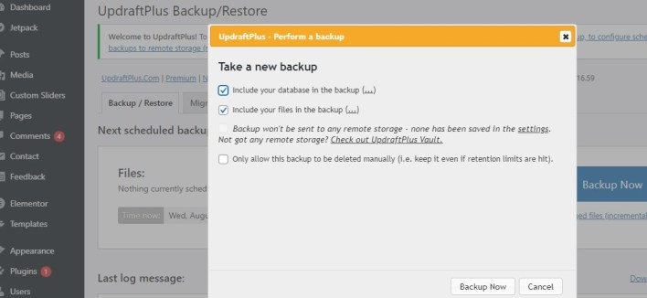 How to Backup and Restore Your WordPress Website