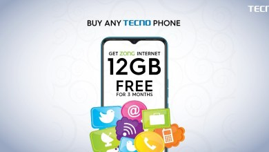 TECNO Partners with Zong 4G to bring 12GB FREE internet for its users