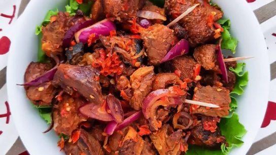 Asun peppered goat meat - Best Yoruba Foods