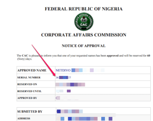 Checking Availability Code For CAC Company Registration-