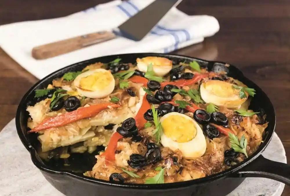 Bacalhau com Batatas (Portuguese Cod Bake with Potatoes)