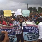 Activities At Onne Port Crippled as Youths Protest Bad Access Roads