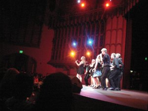 Pitch-perfect · Reverse Osmosis, one of USC's most popular co-ed a cappella groups, performs on stage in Bovard Auditorium at the annual joint a cappella concert Monday. Reverse Osmosis also produced the event. - Photo courtesy of Casey J. Dady