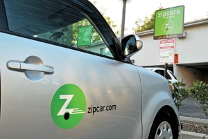 Zip · A Zipcar sits in a parking lot outside of Century Apartments near the USC campus. Zipcars are available to rent on an hourly or daily basis. Drivers can make reservations online or by phone to get a car in a specific location and at a specific time. - Geo Tu | Daily Trojan