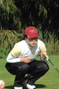 Sizing it up · USC sophomore Jennifer Song returns this season in an attempt to build on an accolade-filled freshman year, in which she finished in the top 10 nine times. But after finishing second in the National Championship, Song is out to improve. - Photo courtesy of USC Sports Information