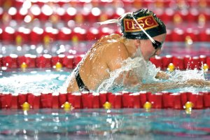 Lasting legacy · Rebecca Soni left USC as one of the best female swimmers ever to wear Cardinal and Gold. She has continued her success in the Olympics and most recently this summer at the world championships. -  Photo courtesy of USC Sports Information