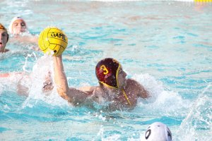 Fast start · Senior two-meter J.W. Krumpholz got USC on the board early in the Trojans' 7-6 victory against Cal in the SoCal Tournament final. - Katelynn Whitaker | Daily Trojan