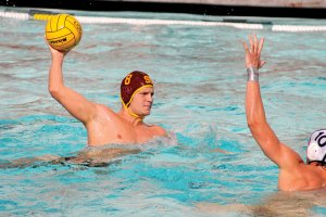 At the buzzer · Senior two-meter Shea Buckner scored the winning goal as time expired in last year's MPSF conference championship. - Katelynn Whitaker | Daily Trojan