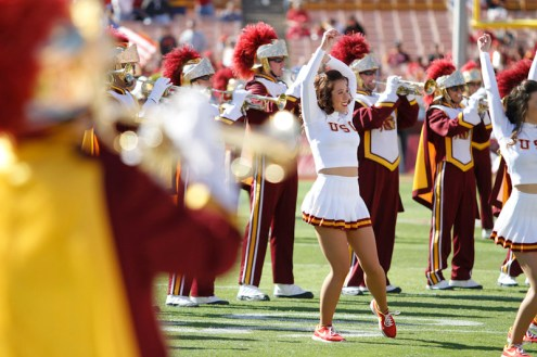 USC Trojan Marching Band and Song Girls