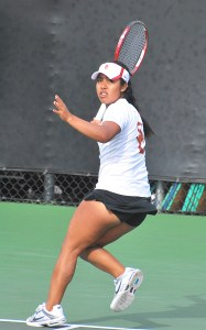 Top ranked · Sophomore Sabrina Santamaria is part of the No. 1 doubles team in the country alongside junior Kaitlyn Christian.  - Chris Roman  Daily Trojan