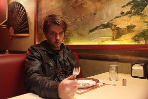 """Seeing supernatural · Former USC student Chase Williamson plays Dave, a college dropout who learns about the mysterious powers of """"soy sauce,"""" a street drug that allows people to see supernatural creatures. - Courtesy of Magnet Release"""