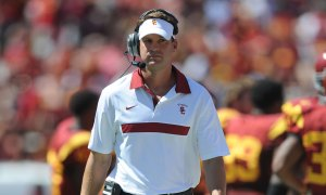 Too stubborn? · Despite disappointing offensive production in 2012, it appears the USC football team will turn to head coach Lane Kiffin for play-calling duties going into the 2013 regular season. - Kelvin Kuo   Daily Trojan