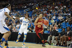 Free fall · Sophomore forward Alexyz Vaioletama scored just two points as USC continuted its slide with  a loss to UCLA Sunday at Pauley Pavilion. — Ralf Cheung | Daily Trojan