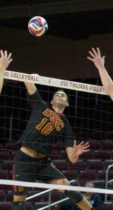 Free fall · Sophomore outside hitter Christian Rivera and the rest of the USC men's volleyball team have yet to hit their stride so far this season. - Ralf Cheung | Daily Trojan