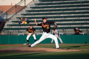 Learning curve · Freshman pitcher Brent Wheatley has posted an ERA of 4.08 and is allowing hitters to hit .329 against him this season. - Ani Kolangian | Daily Trojan