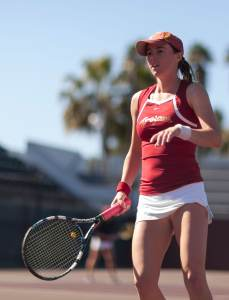 Hardware · Junior Kaitlyn Christian (above) teamed with sophomore Sabrina Santamaria to defend their Pac-12 doubles championship title. - Ralf Cheung | Daily Trojan