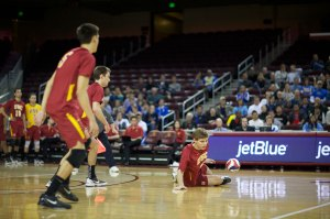 Down and out · 2013 has been a disastrous season for the USC men's volleyball team, as Wednesday's loss to UC Santa Barbara brings the team's record to 6-16, a far cry from 2012's national runner-up campaign. - Ralf Cheung | Daily Trojan