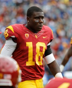 Back to the basics · Recruited as a safety out of high school, redshirt junior Dion Bailey feels more comfortable in the backline of USC's new defense. Bailey led the team with four interceptions last season. - Daily Trojan File Photo