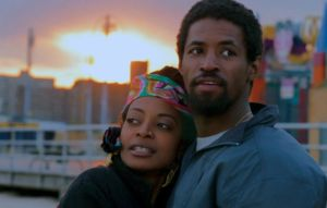 Trae Harris (left) plays Nina and Amari Cheatom (right) plays Lyle in Shaka King's debut feature film Newlyweeds. Photo courtesy of Eye For Film