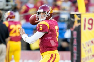 """Ready to go · Redshirt sophomore quarterback Cody Kessler said he is excited about the chance to seize the starting job. """"It was very exciting for me,"""" Kessler said. """"[Kiffin] gave me the keys to the car ... the keys to the team."""" - Ralf Cheung   Daily Trojan"""