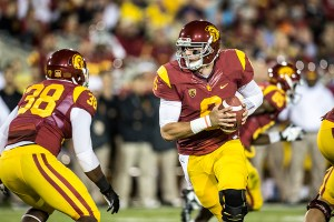 """Pocket presence · Redshirt sophomore quarterback Cody Kessler has averaged just under 300 yards in USC's past two games. """"I can see the guys starting to believe in him,"""" interim head coach Ed Orgeron said. - Ralf Cheung 