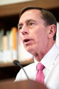 Interconnected · Gen. David H. Petraeus spoke of how manufacturing, life sciences and information technologies are intertwined on Wednesday. - Ralf Cheung | Daily Trojan