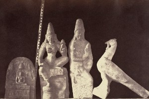 """Progressive photography · Linnaeus Tripe's 1858 photograph of """"The Eliot Marbles"""" is a piece that relies heavily on the use of negative space.  In 1857, Tripe became the official photographer to the Madras government. His trip to Madras resulted in a photo collection entitled Burma Views. - Photo courtesy of LACMA"""
