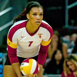 Locked in · USC freshman outside hitter Ebony Nwanebu has been stellar this season with 267 kills, good for second-most on the team. - Joseph Chen | Daily Trojan