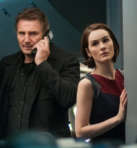 Can't stop, won't stop · Liam Neeson and the star-studded supporting cast in Non-Stop fall flat due to its shotty script.   - Photo courtesy of Universal Pictures
