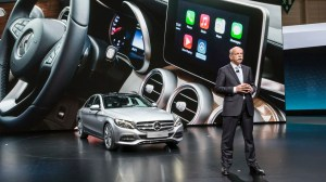 Beep beep · Apple CarPlay, originally announced at Apple's 2013 WWDS conference, attempts to reach out to a new generation progressively changing from normal car culture.  The new feature will be featured in Ferrari, Mercedes-Benz and Volvo models.  - Photo courtesy of Cliccar