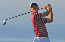 Back on track · Freshman Rico Hoey, who has struggled this spring after a strong fall season, finished the San Diego Classic in second place. - Courtesy of USC Sports Information