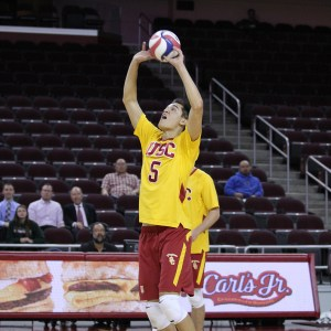 Setting the standard · Junior setter Micah Christenson was named a first-team All-American by the AVCA on Thursday. The Honolulu native led the team with 26 service aces and 1,046 assists this season. - Nick Entin | Daily Trojan