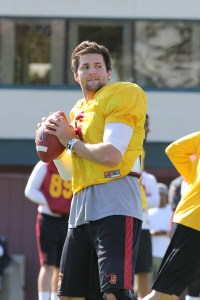 Top dog · Redshirt junior quarterback Cody Kessler, who threw for 212 yards per game last year, will likely sit atop the depth chart come fall. - Nick Entin | Daily Trojan