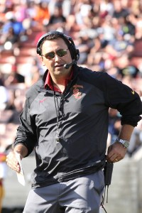 Star power · First-year head coach Steve Sarkisian is likeable and media-friendly, traits that will help USC step back into the spotlight. - Nick Entin | Daily Trojan