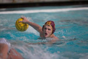 Leading by example · Senior driver Kostas Genidounias had a relatively quiet weekend with four goals in the Trojans' 24-0 vanquishing of Occidental College. Genidounias had 16 goals last weekend at the Triton Invitational. - Ralf Cheung | Daily Trojan
