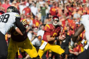 Record day - Redshirt junior quarterback Cody Kessler finished the day with 319 yards and seven touchdowns, breaking former Trojan quarterback Matt Barkley's single-game record — Benjamin Dunn | Daily Trojan